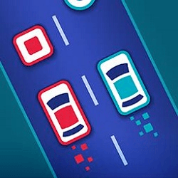 Two Cars Driving