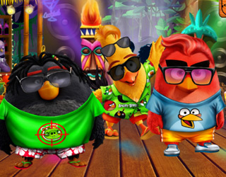 Angry Birds Summer Break Cartoon Game