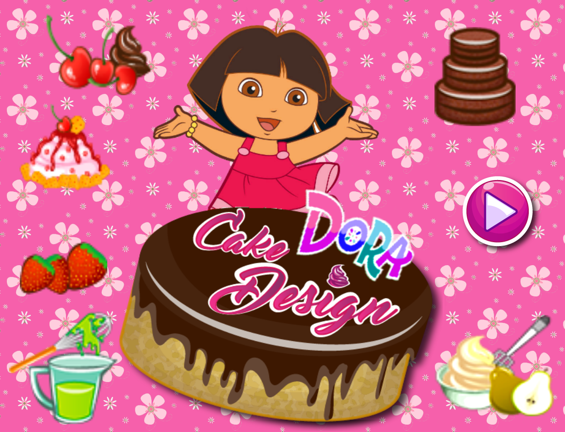 Dora Cake Design - Games Online Free at Gamespinn